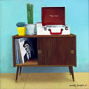 Mid Century Paintings - Tele Tune Sinatra by Snake Jagger