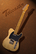 Fender Telecaster Framed Prints - Telecaster Framed Print by WB Johnston