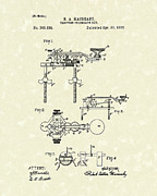 Device Drawings Framed Prints - Telegraph Key 1886 Patent Art Framed Print by Prior Art Design