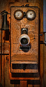Customization Prints - Telephone - Antique Wall Telephone Print by Lee Dos Santos