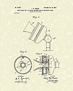 Telephone Drawings Framed Prints - Telephone Mouthpiece 1902 Patent Art Framed Print by Prior Art Design