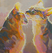 Glow Painting Originals - Telling Secrets by Kimberly Santini