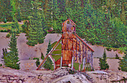 Northern Colorado Prints - Telluride Mine 3 Print by Janice Rae Pariza