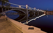 Asu Framed Prints - Tempe Town Lake Lights Framed Print by Dave Dilli