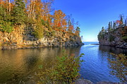 Temperance River Framed Prints - Temperance River Mouth Framed Print by Bryan Benson