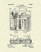 Carrier Metal Prints - Temperature Regulator 1925 Patent Art Metal Print by Prior Art Design