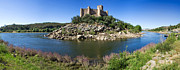 Battlement Framed Prints - Templar Castle of Almourol Framed Print by Lusoimages  