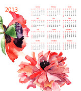 Wishes Prints - Template for calendar Print by Regina Jershova
