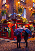 Cobblestone Prints - Temple Bar Print by Inge Johnsson