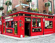 Irish Pubs Posters - Temple Bar Poster by Mel Steinhauer