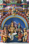 Religious Statues Prints - Temple Deity Statues India Print by Tim Gainey