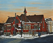 Religious Artist Paintings - Temple Gurudwara Sahib  Pointe St Charles by Reb Frost