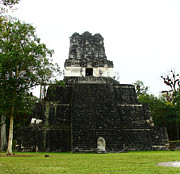 Civilizations Originals - Temple II at Tikal by Kathy McClure