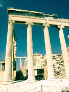 Columns Of Greece Framed Prints - Temple of Athena Framed Print by Leslie Cooper