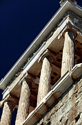 Athens Ruins Framed Prints - Temple of Athena Nike Columns Framed Print by John Rizzuto