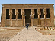 Hathor Posters - Temple of Hathor in Dendera Poster by Ruth Hager