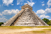 Wonder Of The World Prints - Temple of Kukulkan at Chichen Itza Print by Mark E Tisdale
