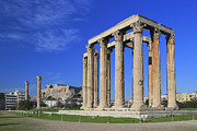 Olympian Framed Prints - Temple of Olympian Zeus Athens Greece Framed Print by Ivan Pendjakov