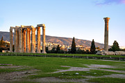 Athens Ruins Framed Prints - Temple of Olympian Zeus. Athens Framed Print by Ilan Rosen