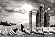Olympian Framed Prints - Temple of Olympian Zeus Framed Print by Manolis Tsantakis