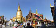 Emerald Prints - Temple of the Emerald Buddha - Grand Palace in Bangkok Thailand - 01132 Print by DC Photographer