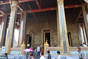 Bangkok Prints - Temple of the Emerald Buddha - Grand Palace in Bangkok Thailand - 01136 Print by DC Photographer