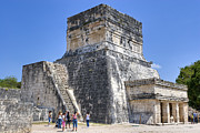 Jaguars Prints - Temple of the Jaguars at Chichen Itza Print by Mark E Tisdale