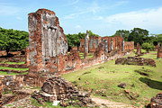 Ayutthaya Framed Prints - Temple Ruins in Ayutthaya Framed Print by Artur Bogacki