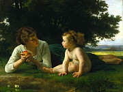 Infant Prints - Temptation Print by William Bouguereau