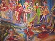 Ballet Dancers Paintings - Tempting  taste of ballet by Judith Desrosiers