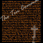 Commandment Prints - Ten 20130213 Print by Wingsdomain Art and Photography