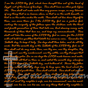 Commandment Prints - Ten 20130213v2 Print by Wingsdomain Art and Photography