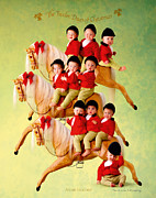 Christmas Photo Posters - Ten Lords-a-Leaping Poster by Anne Geddes