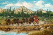 Team Paintings - Ten Miles to Tucson by Perrys Fine Art