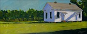 Old School House Painting Posters - Ten  Six  Eleven Poster by David Simmons