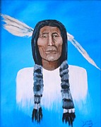 Limited Edition Drawings - Ten Wolves A Medicine Man by True Vine Gallery-- Donna E Dixon
