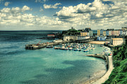 Steve Purnell Photo Metal Prints - Tenby Harbour Pembrokeshire Metal Print by Steve Purnell