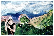 Hiker Paintings - Tender of the Fields by Joseph Wetzel