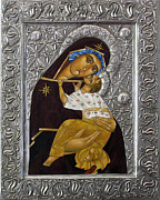 Orthodox Icon Originals - Tenderness by Mary jane Miller