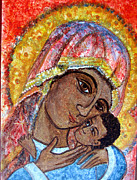Russian Icon Prints - Tenderness Print by Sarah Hornsby