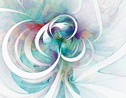 Abstract Digital Art - Tendrils 03 by Amanda Moore