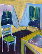 Kitchen Chair Paintings - Tenement Kitchen by Betty Pieper