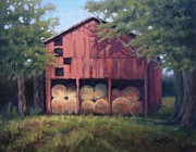 Janet King - Tennessee Barn with Hay...