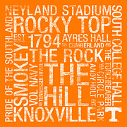The Rock Prints - Tennessee College Colors Subway Art Print by Replay Photos