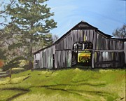 Tennessee Farm Painting Framed Prints - Tennessee Farm Framed Print by Hilary Pilzer
