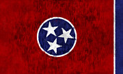 Nashville Tennessee Art - Tennessee Flag by World Art Prints And Designs