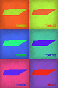 Modern Poster Art - Tennessee Pop Art Map 1 by Irina  March