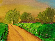 Dirt Road Paintings - Tennessee Road by Harold Greer