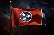 Steven Michael Photography And Art Prints - Tennessee State Flag Print by Steven  Michael
