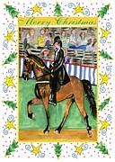 Tennessee Drawings - Tennessee Walking Horse Blank Christmas Card by Olde Time  Mercantile